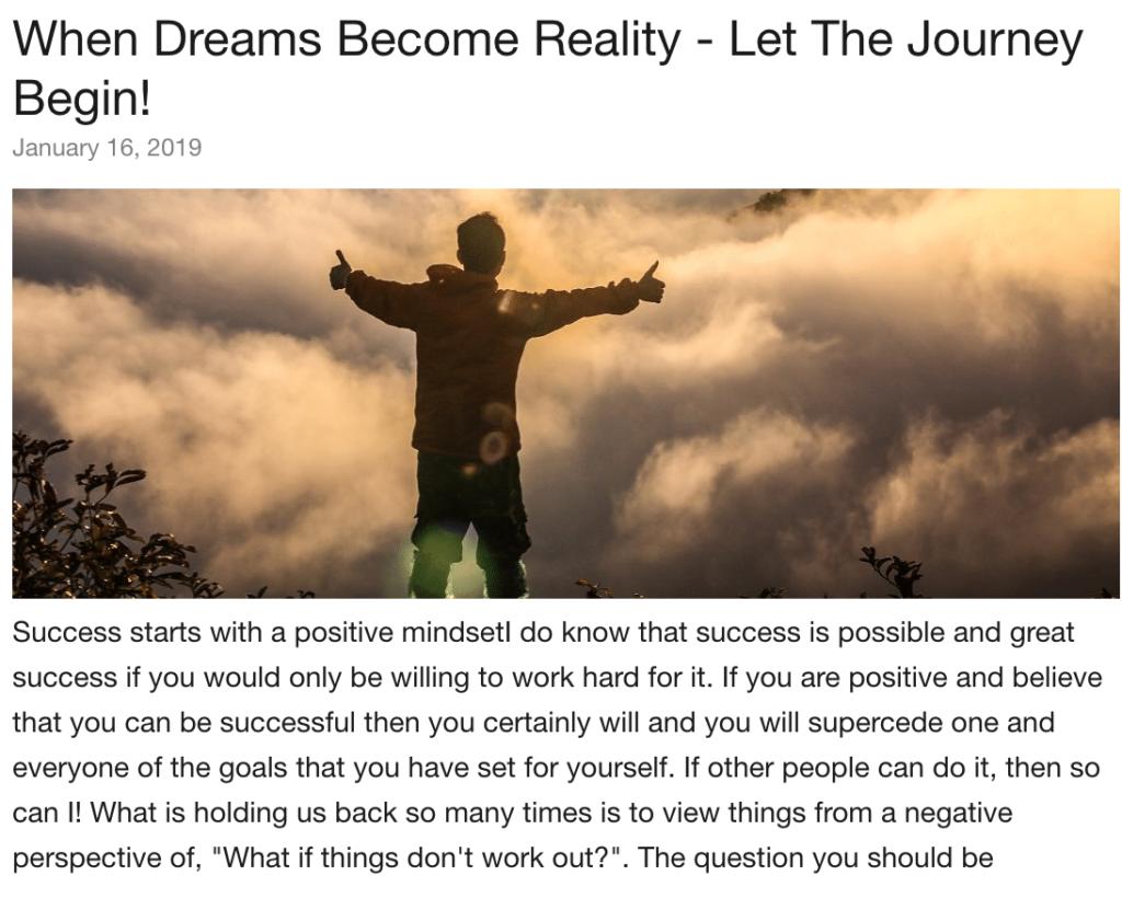 Personal Blog On WA