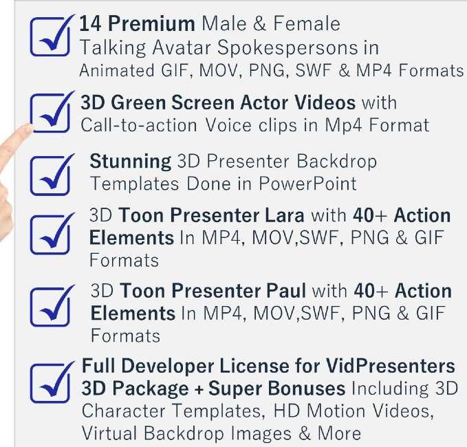 Vidpresenters 3D Avatar Pack Summary