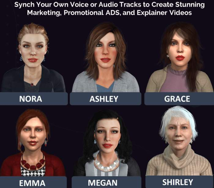 Vidpresenters 3D female characters