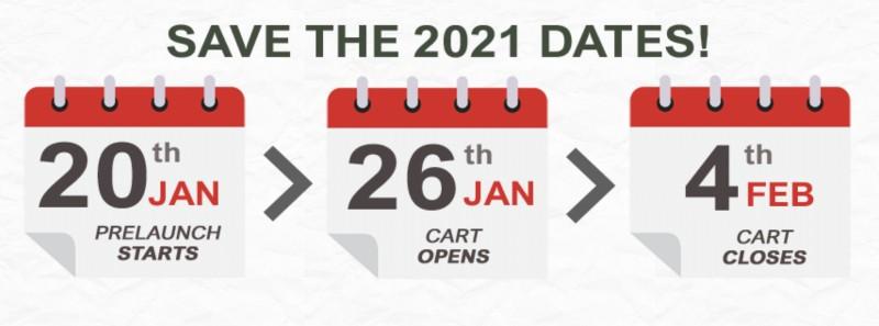 Kibo Code Launch Dates